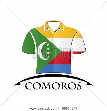 shirts icon made from the flag of Comoros
