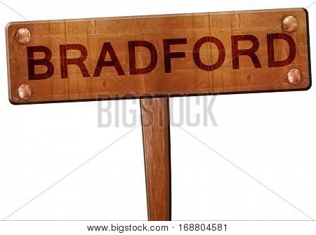 Bradford road sign, 3D rendering