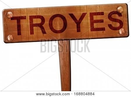 troyes road sign, 3D rendering