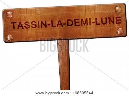 tassin-la-demi-lune road sign, 3D rendering