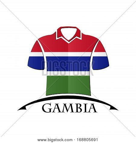 shirts icon made from the flag of Gambia