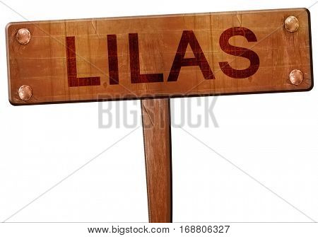 lilas road sign, 3D rendering