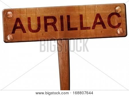 aurillac road sign, 3D rendering