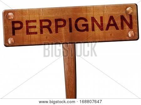 perpignan road sign, 3D rendering