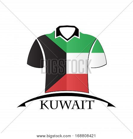 shirts icon made from the flag of Kuwait