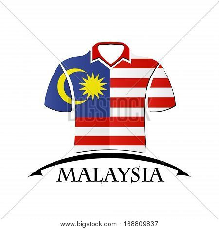 shirts icon made from the flag of Malaysia