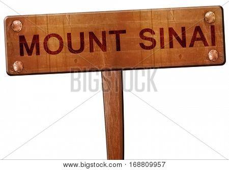 mount sinai road sign, 3D rendering