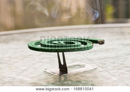 Fumigator Over Glass Table