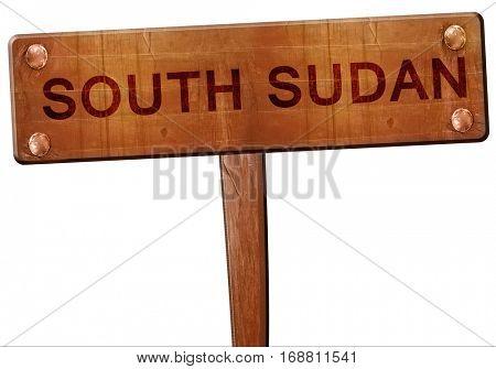 South sudan road sign, 3D rendering