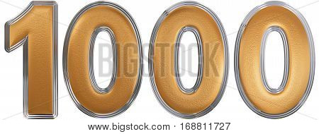 Numeral 1000, One Thousand, Isolated On White Background, 3D Render