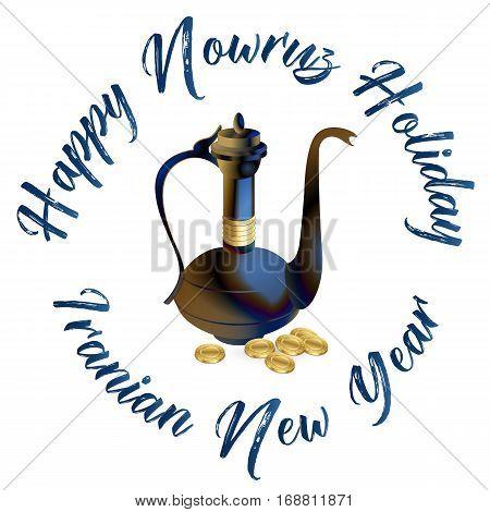 Nowruz greeting. Iranian new year. Vector Illustration.