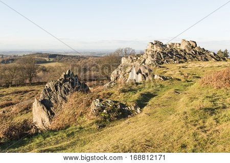 An image of a formation of rocks at Beacon Hill Leicestershire England UK