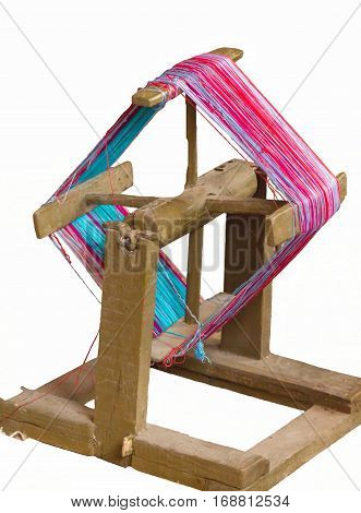 isolated hank on unwinding for knitting work