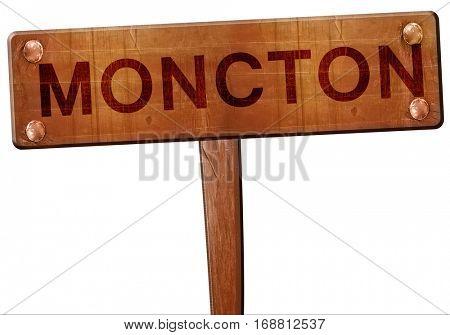 Moncton road sign, 3D rendering