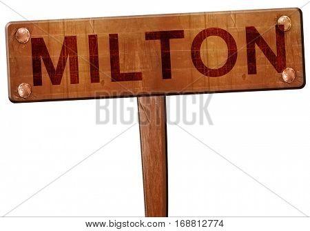 Milton road sign, 3D rendering