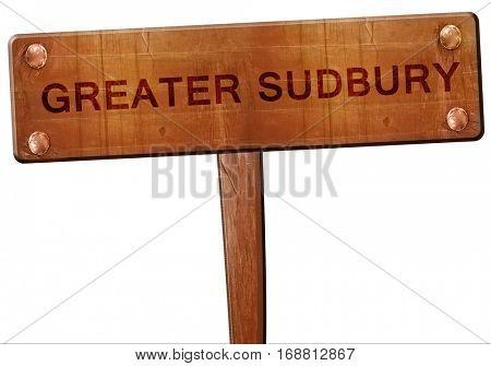 Greater sudbury road sign, 3D rendering