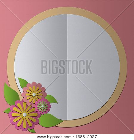 blank greeting card Paper Craft vintage style