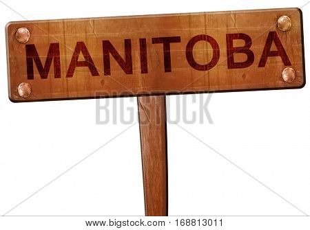 Manitoba road sign, 3D rendering