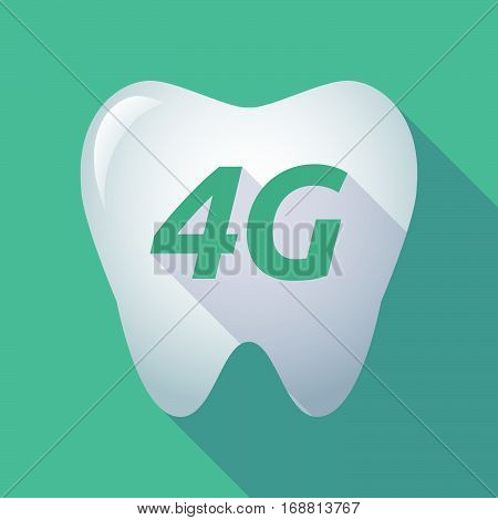 Long Shadow Tooth With    The Text 4G