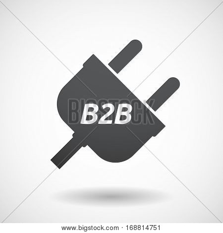 Isolated Plug With    The Text B2B