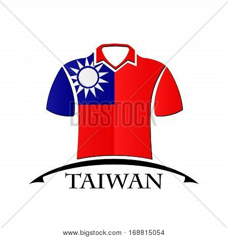shirts icon made from the flag of Taiwan