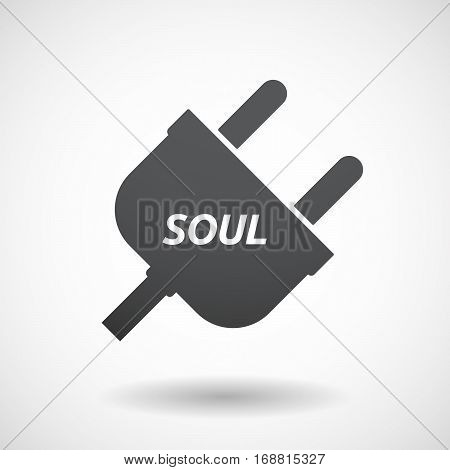 Isolated Plug With    The Text Soul
