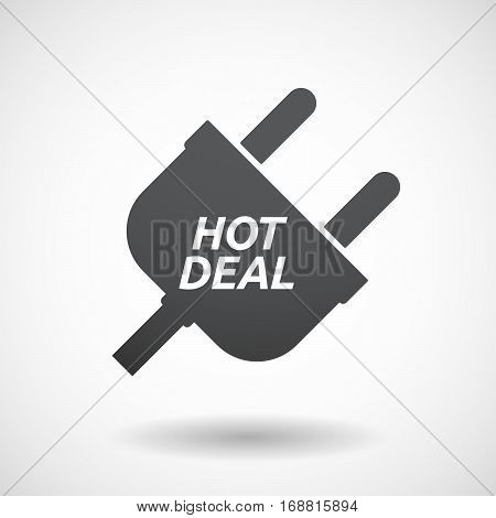 Isolated Plug With    The Text Hot Deal