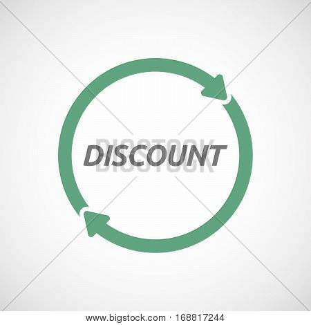 Isolated Reuse Sign With    The Text Discount