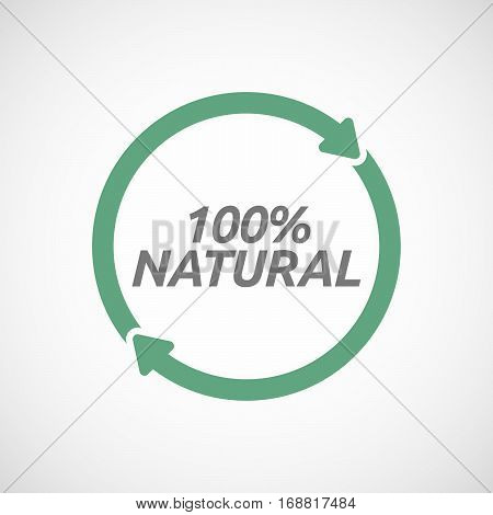 Isolated Reuse Sign With      The Text 100% Natural