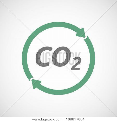Isolated Reuse Sign With    The Text Co2