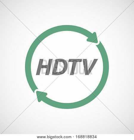 Isolated Reuse Sign With    The Text Hdtv