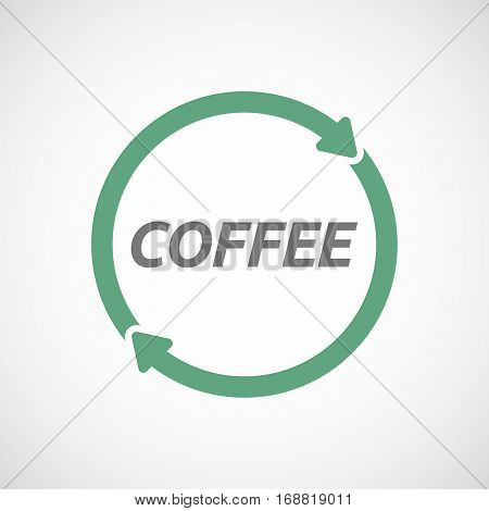Isolated Reuse Sign With    The Text Coffee
