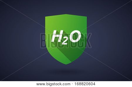 Long Shadow Shield With    The Text H2O
