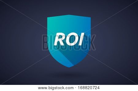 Long Shadow Shield With    The Return Of Investment Acronym Roi