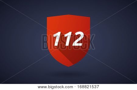 Long Shadow Shield With    The Text 112