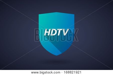 Long Shadow Shield With    The Text Hdtv