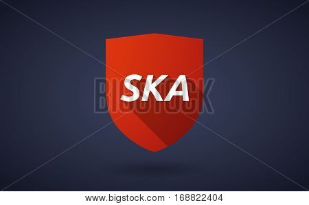 Long Shadow Shield With    The Text Ska