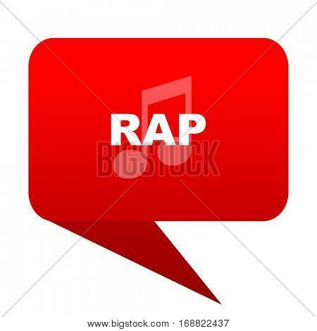 rap music bubble red icon