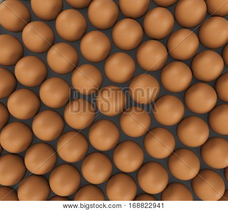background of fresh eggs for sale. 3d rendering