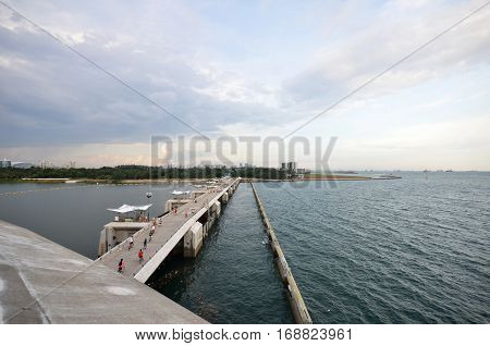Peoples Visit Marina Barrage, Singapore