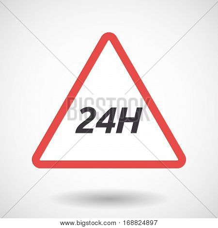 Isolated Warning Signal With    The Text 24H