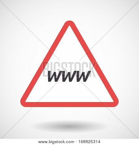 Isolated Warning Signal With    The Text Www