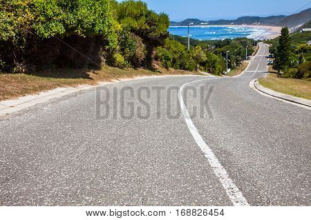 The road to Brenton on Sea in South Africa