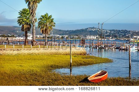View over the lake on Knysna South Africa