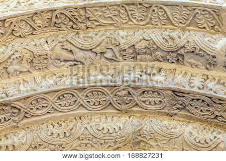 Stone Carving Of The Entrance To Saint Demetrius Cathedral, Vladimir