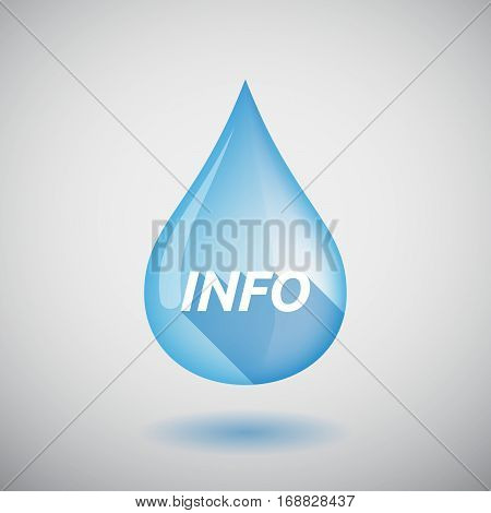 Long Shadow Water Drop With    The Text Info