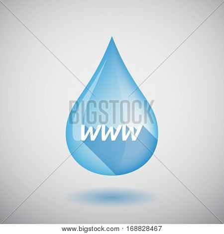 Long Shadow Water Drop With    The Text Www