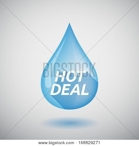 Long Shadow Water Drop With    The Text Hot Deal
