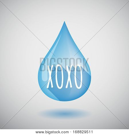 Long Shadow Water Drop With    The Text Xoxo
