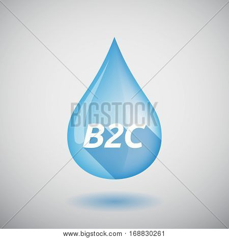 Long Shadow Water Drop With    The Text B2C